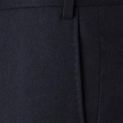 Hiltl Flanel Lacivert 120S Yün Prince De Galle Pantolon - Thumbnail