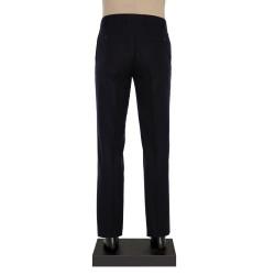 Hiltl - Hiltl Flanel Lacivert Dokulu Yün Pantolon (1)