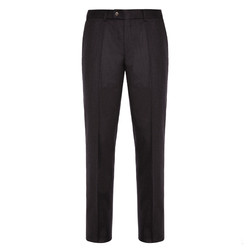 Hiltl - Hiltl Flanel Kahverengi Yün Çift Kat Melanj Süper 120'S Pantolon
