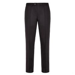 Hiltl Flanel Kahverengi Yün Çift Kat Melanj Süper 120'S Pantolon - Thumbnail