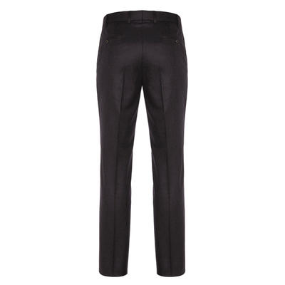 Hiltl - Hiltl Flanel Kahverengi Yün Çift Kat Melanj Süper 120'S Pantolon (1)