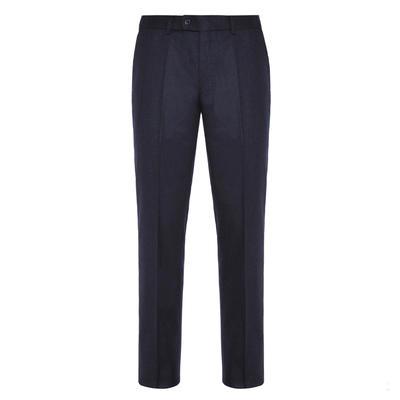 Hiltl - Hiltl Flanel Lacivert Yün Çift Kat Melanj Süper 120'S Pantolon