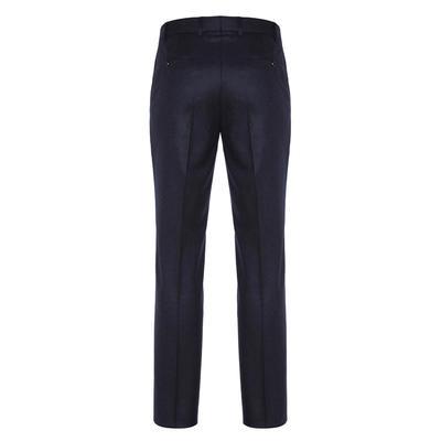 Hiltl - Hiltl Flanel Lacivert Yün Çift Kat Melanj Süper 120'S Pantolon (1)