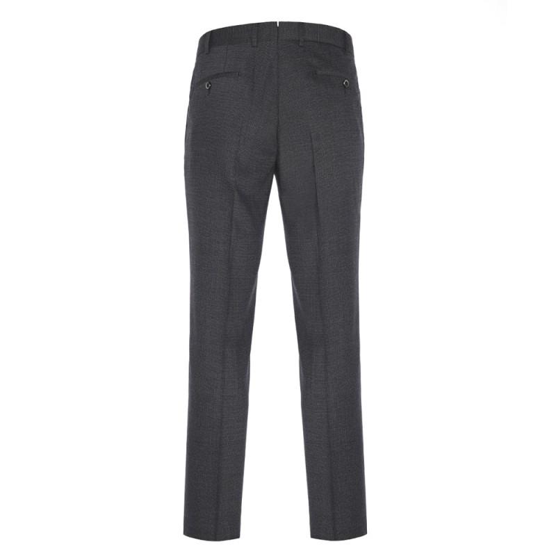 Hiltl - Hiltl Gri Füme Dokulu Yün Pantolon (1)