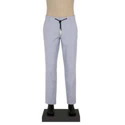 Hiltl - Hiltl IPLI BEL BEYAZ MAVI CIZGILI Pantolon
