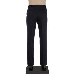 Hiltl - Hiltl Lacivert Dokulu Yün Pantolon (1)