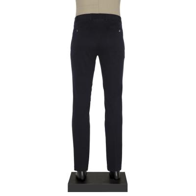 Hiltl - Hiltl Chino Lacivert Dokulu Slim Fit Pantolon (1)