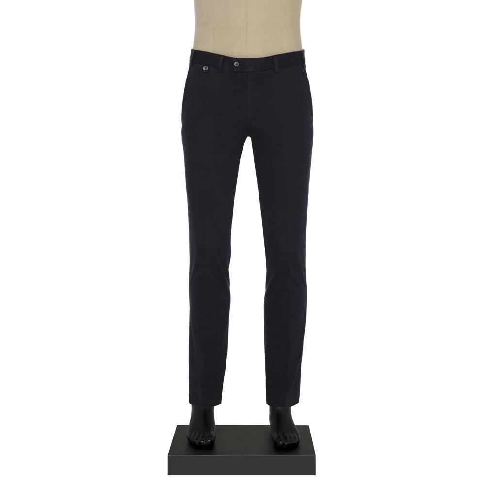 Hiltl - Hiltl Chino Lacivert Dokulu Slim Fit Pantolon