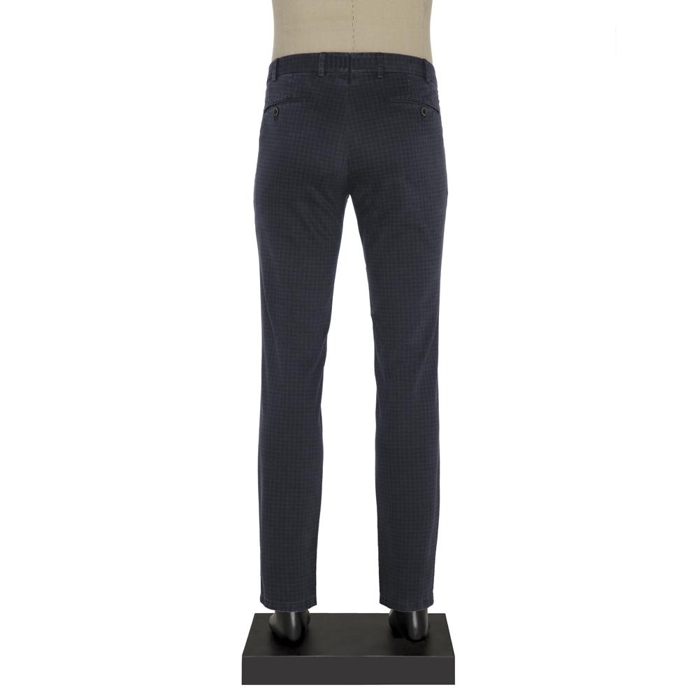 Hiltl Chino Lacivert Desenli Slim Fit Pantolon