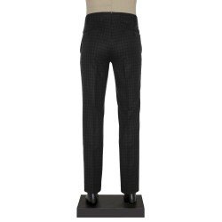 Hiltl - Hiltl Klasik Siyah Gri Kareli Pantolon (1)