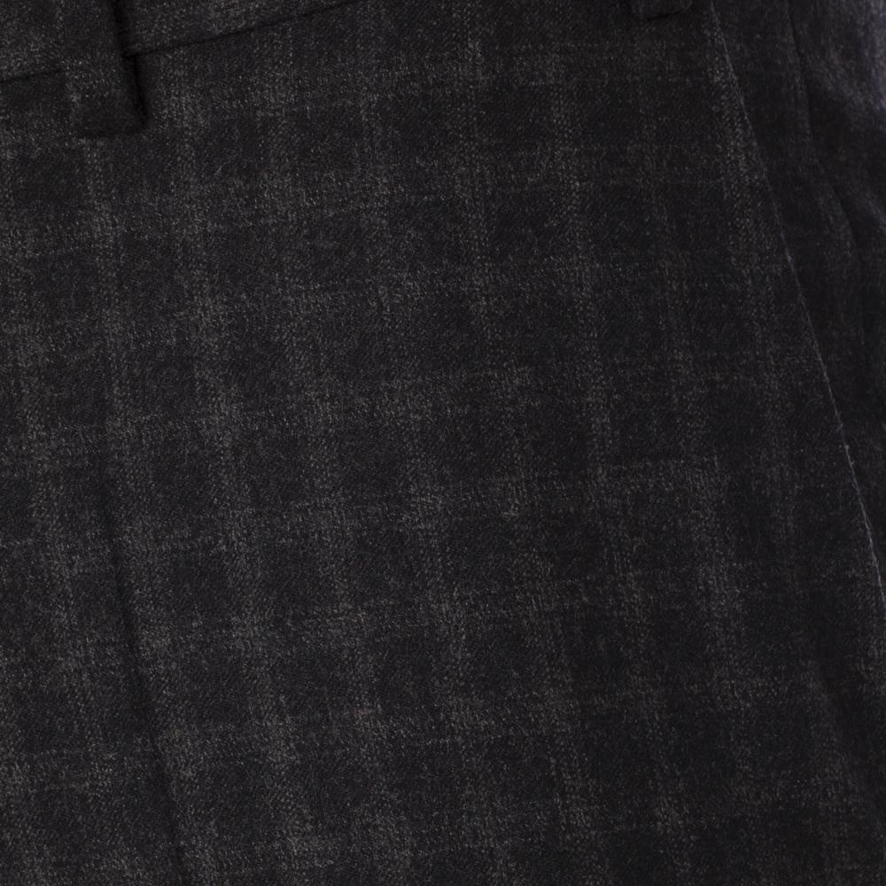 Hiltl Klasik Siyah Gri Kareli Pantolon