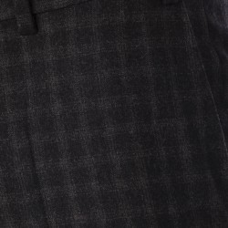 Hiltl Klasik Siyah Gri Kareli Pantolon - Thumbnail