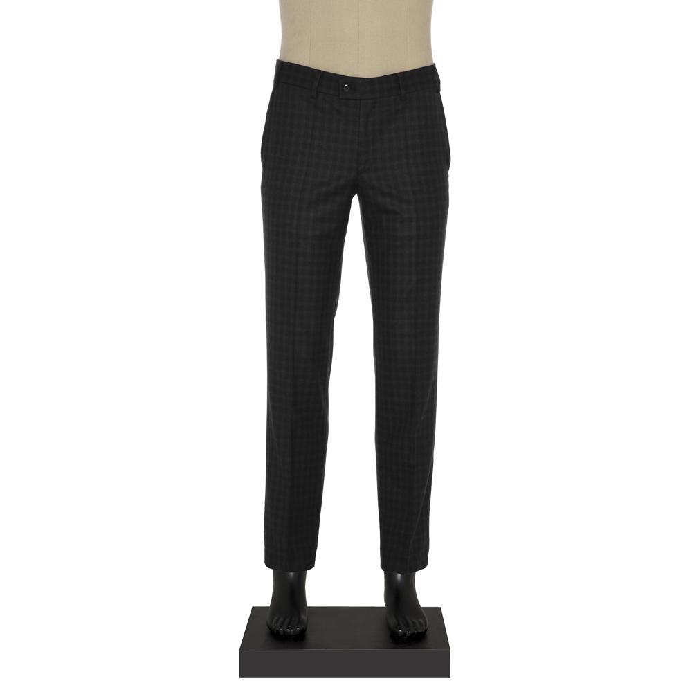 Hiltl - Hiltl Klasik Siyah Gri Kareli Pantolon