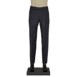 Hiltl - Hiltl Klasik Füme Lacivert Kareli Pantolon