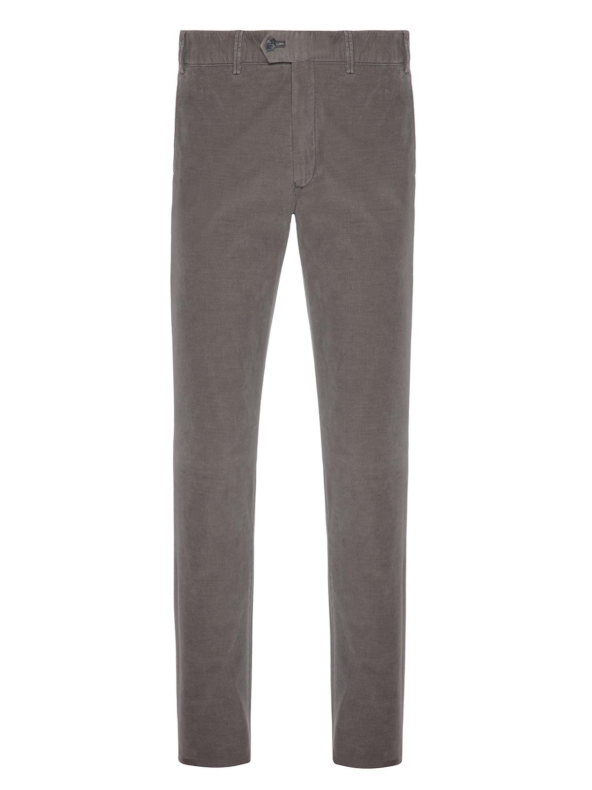 Hiltl - Hiltl Phantom Cord Coton Elastane Gri Yeşil Tierre Chino Slim Fit Pantolon