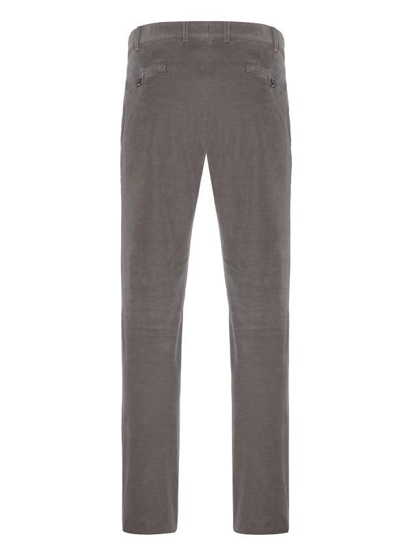 Hiltl - Hiltl Phantom Cord Coton Elastane Gri Yeşil Tierre Chino Slim Fit Pantolon (1)
