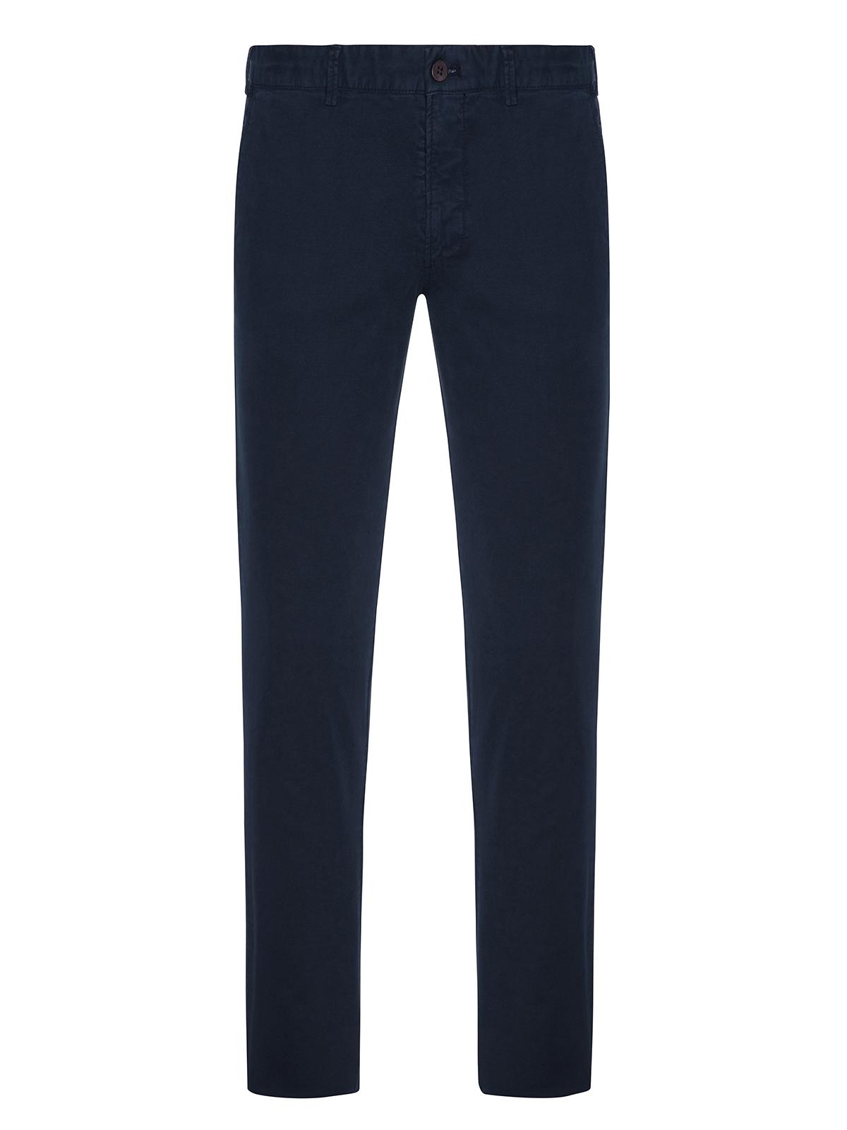 Hiltl - Hiltl Rugged Motion Coton Elastane Lacivert Stertch Tiago Chino Slim Fit Pantolon