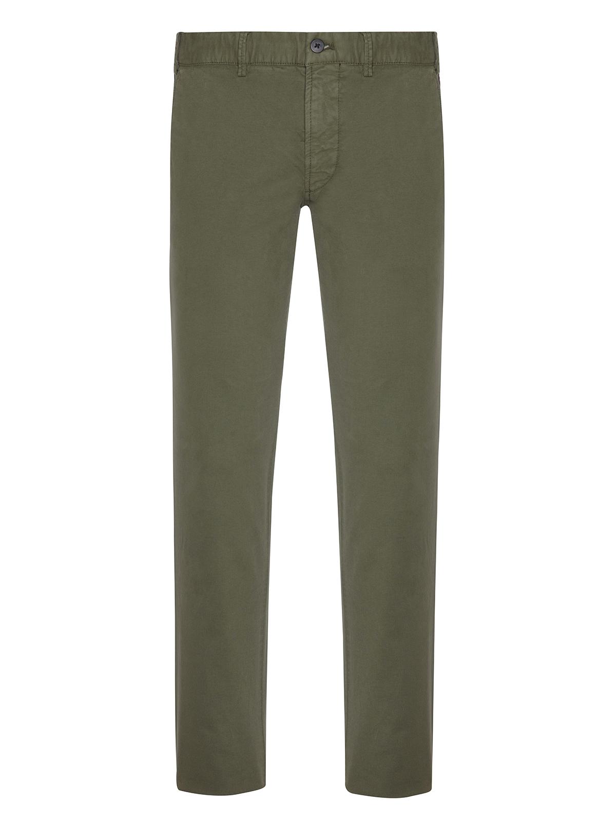 Hiltl - Hiltl Rugged Motion Coton Elastane Yeşil Stretch Tiago Chino Slim Fit Pantolon