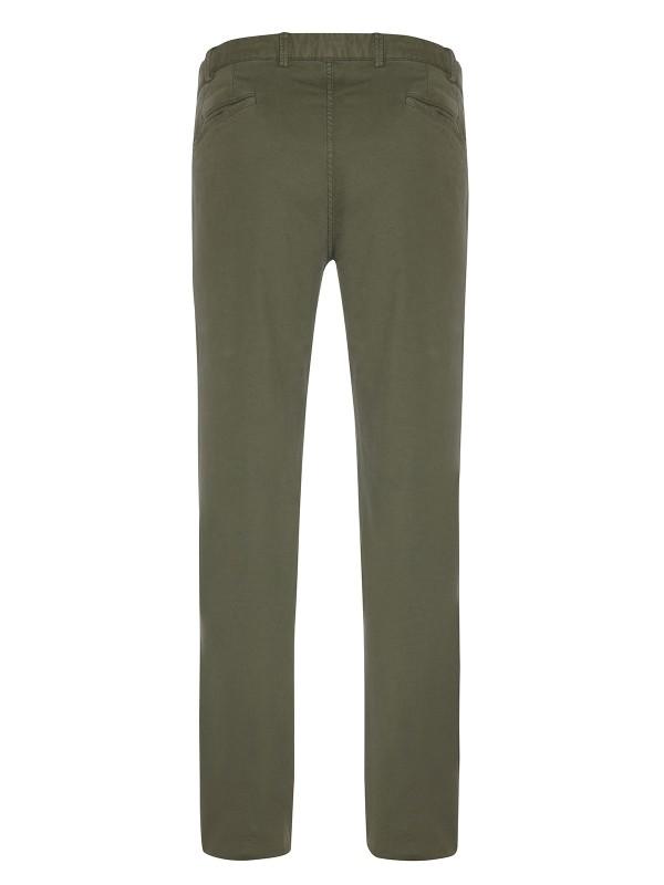 Hiltl - Hiltl Rugged Motion Coton Elastane Yeşil Stretch Tiago Chino Slim Fit Pantolon (1)