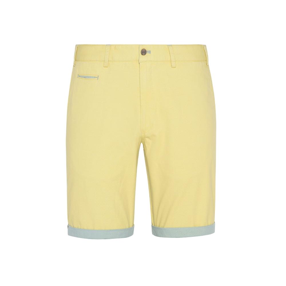 Hiltl - Hiltl Sarı Ripstop Twill Pamuk Elastan Bermuda