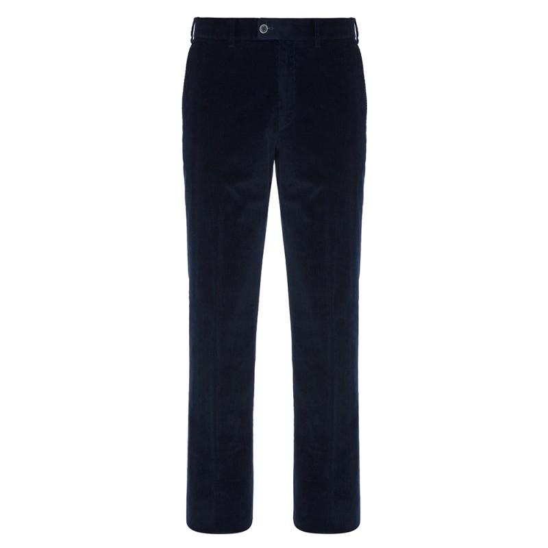 Hiltl - Hiltl Supima Cord Pamuk Lacivert Chino Pantolon