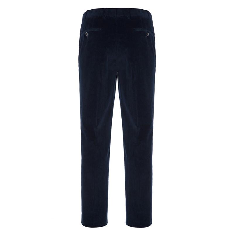 Hiltl - Hiltl Supima Cord Pamuk Lacivert Chino Pantolon (1)