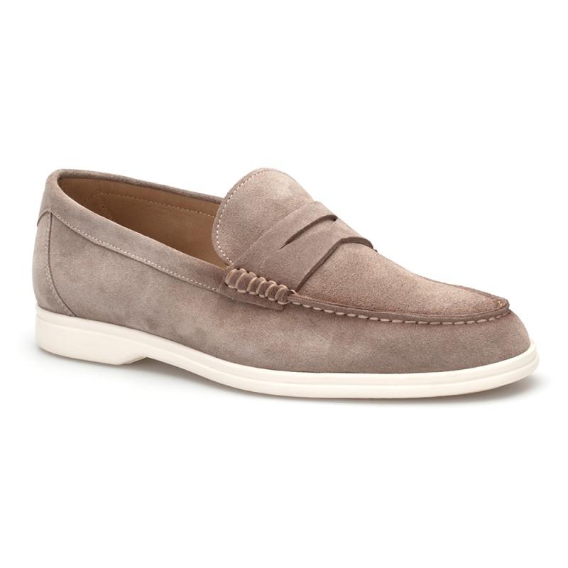 JEROLD WILTON Bej Süet Loafer Ayakkabı
