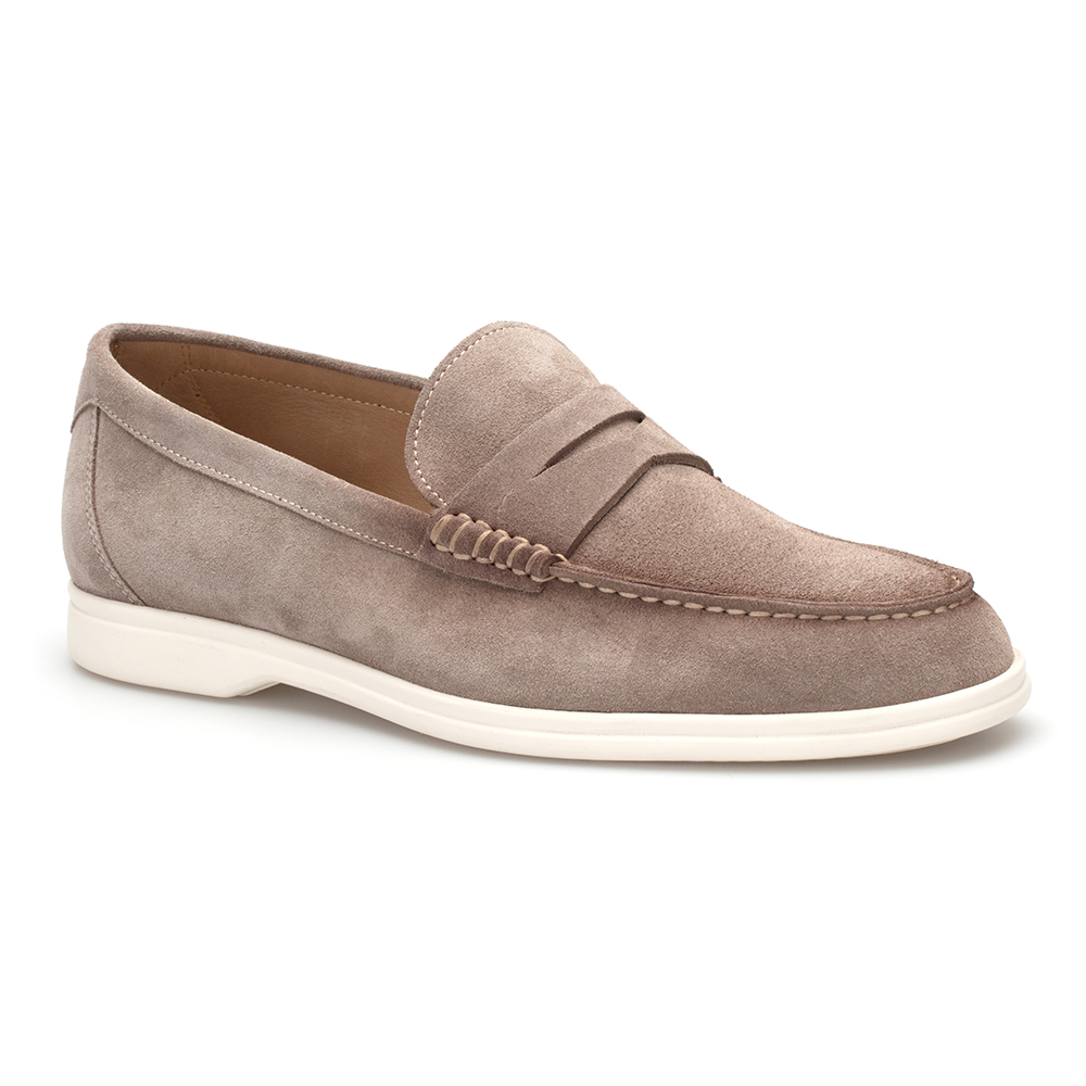 JW - JEROLD WILTON Bej Süet Loafer Ayakkabı