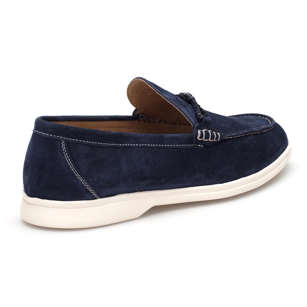 JEROLD WILTON Mavi Süet Loafer Ayakkabı