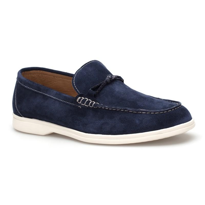 JW - JEROLD WILTON Mavi Süet Loafer Ayakkabı