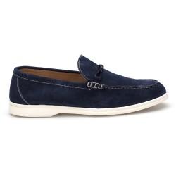 JW - JEROLD WILTON Mavi Süet Loafer Ayakkabı (1)