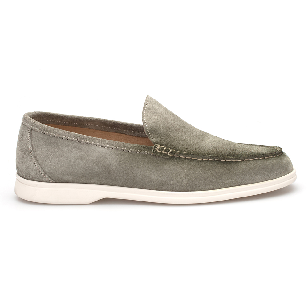 JEROLD WILTON Yeşil Süet Loafer Ayakkabı