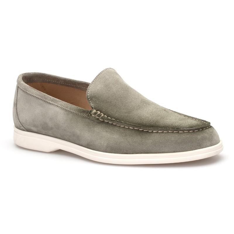 JW - JEROLD WILTON Yeşil Süet Loafer Ayakkabı