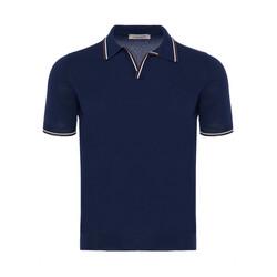 La Fileria Gömlek Polo Yaka LacivertÖrme T-Shirt - Thumbnail