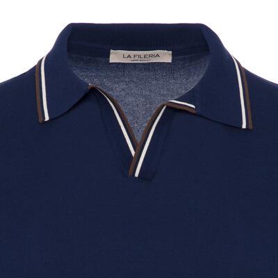 La Fileria - La Fileria Gömlek Polo Yaka LacivertÖrme T-Shirt (1)