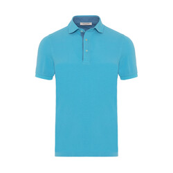 La Fileria - La Fileria Gömlek Yaka Aqua Yıkamalı Polo Piquet T-Shirt