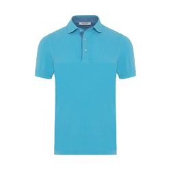 La Fileria Gömlek Yaka Aqua Yıkamalı Polo Piquet T-Shirt - Thumbnail