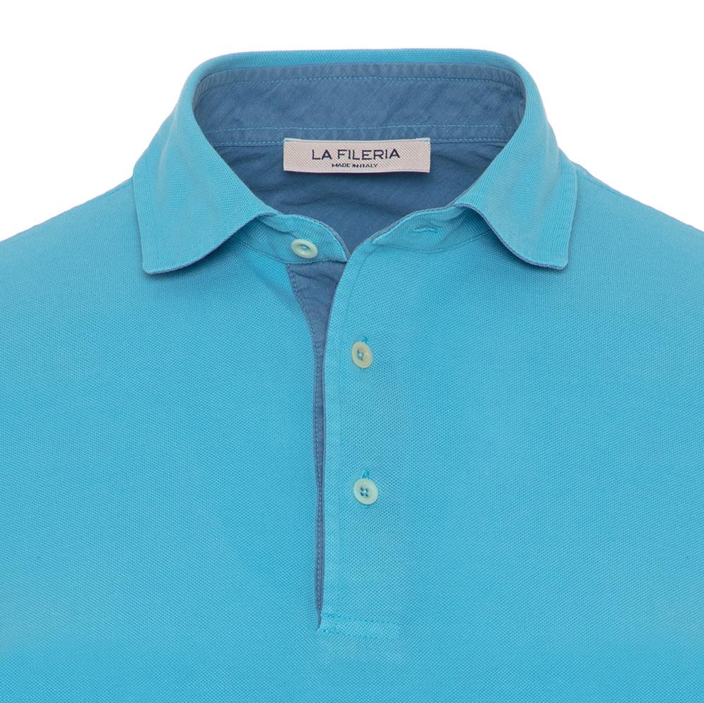 La Fileria Gömlek Yaka Aqua Yıkamalı Polo Piquet T-Shirt