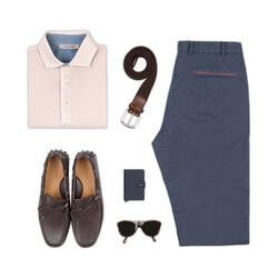 La Fileria Gömlek Yaka Buz Rengi Yıkamalı Polo Piquet T-Shirt - Thumbnail
