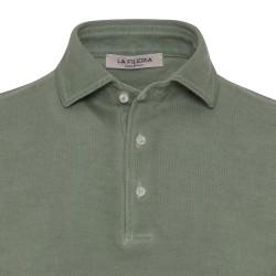 La Fileria - La Fileria Gömlek Yaka Çağla Yeşili Vintage Polo Piquet Slim Fit T-Shirt (1)