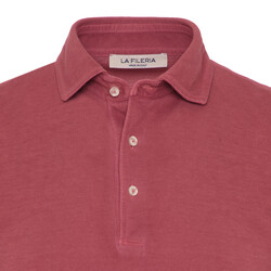 La Fileria - La Fileria Gömlek Yaka Gül Kurusui Vintage Polo Piquet T-Shirt (1)