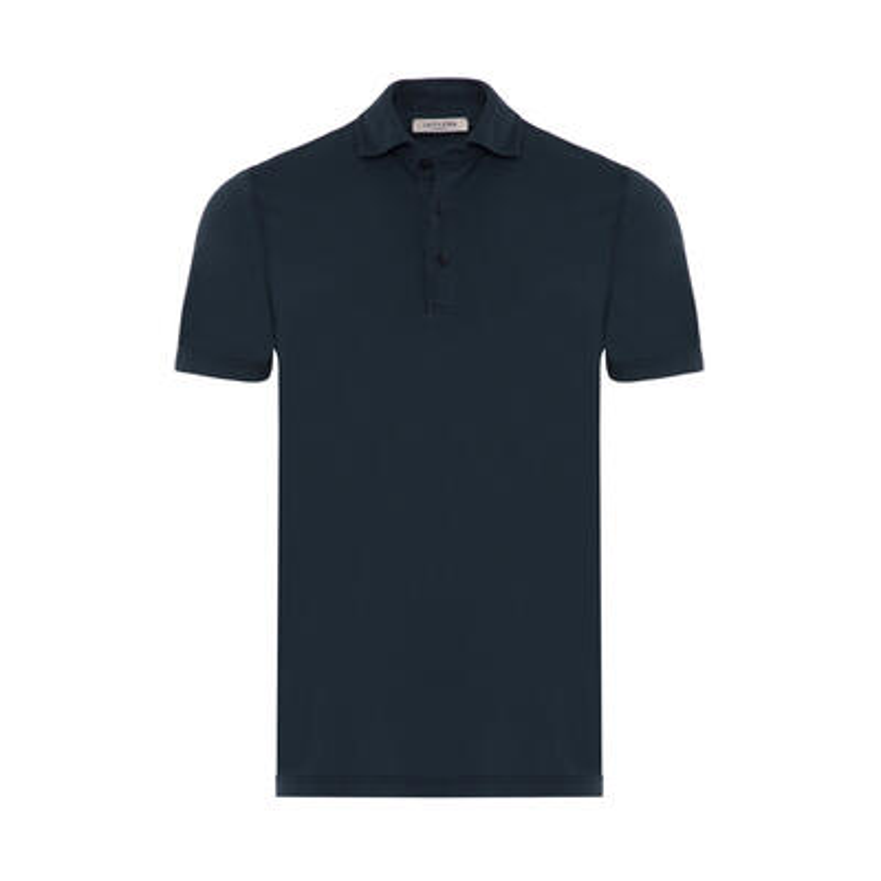 La Fileria Gömlek Yaka Lacivert Polo Merserize Slim Fit T-Shirt