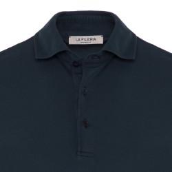 La Fileria Gömlek Yaka Lacivert Polo Merserize T-Shirt - Thumbnail