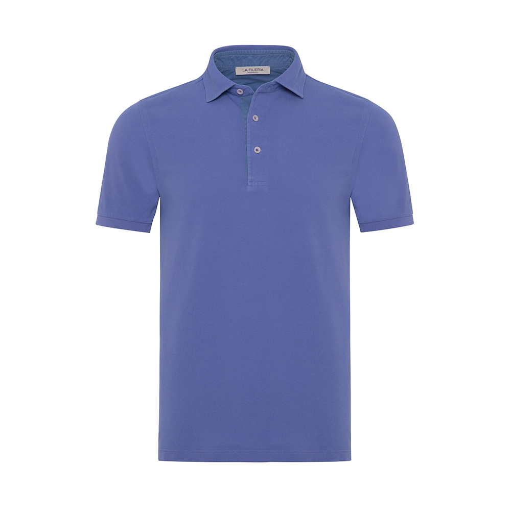La Fileria Gömlek Yaka Lila Slim Fit T-Shirt