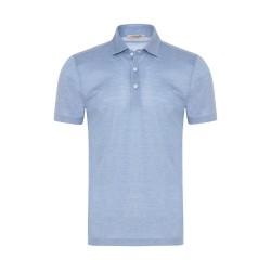La Fileria - La Fileria Gömlek Yaka Mavi Polo Piquet Örme T-Shirt