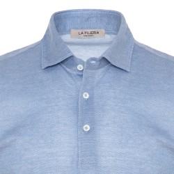 La Fileria - La Fileria Gömlek Yaka Mavi Polo Piquet Örme T-Shirt (1)
