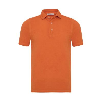 La Fileria - La Fileria Gömlek Yaka Orange Vintage Polo Piquet Slim Fit T-Shirt