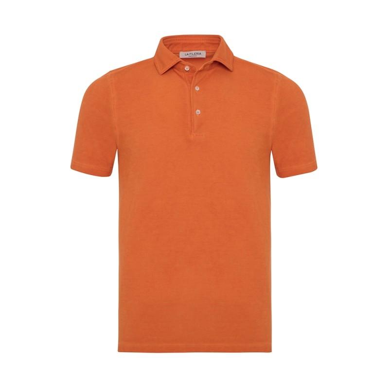 La Fileria Gömlek Yaka Orange Vintage Polo Piquet Slim Fit T-Shirt
