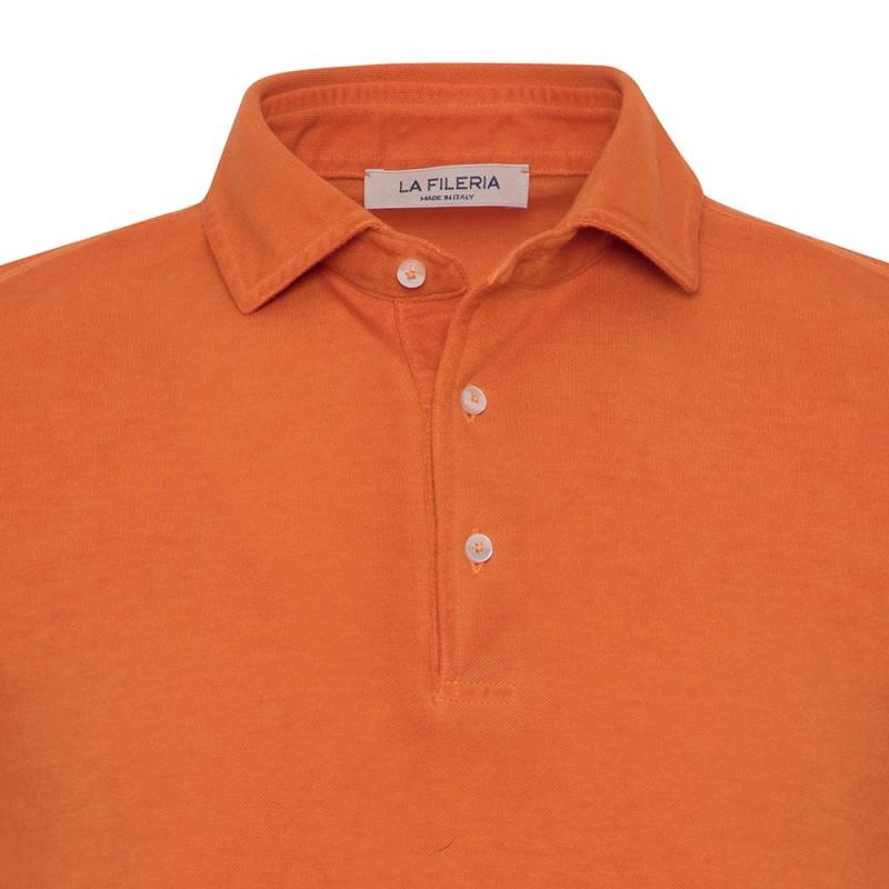 La Fileria - La Fileria Gömlek Yaka Orange Vintage Polo Piquet Slim Fit T-Shirt (1)
