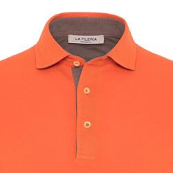 La Fileria - La Fileria Gömlek Yaka Turuncu Yıkamalı Polo Piquet T-Shirt (1)